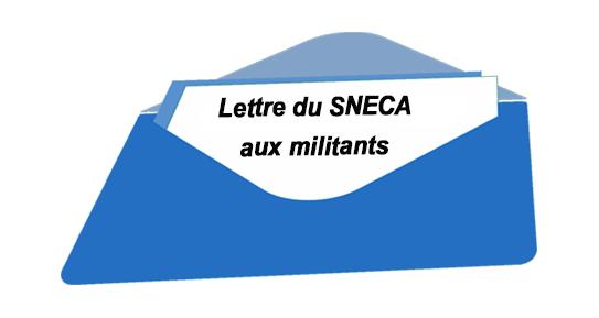 Lettre Sneca aux militants 29/04/2019