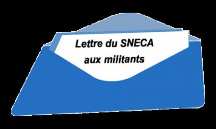 Lettre Sneca aux militants 23/09/2019